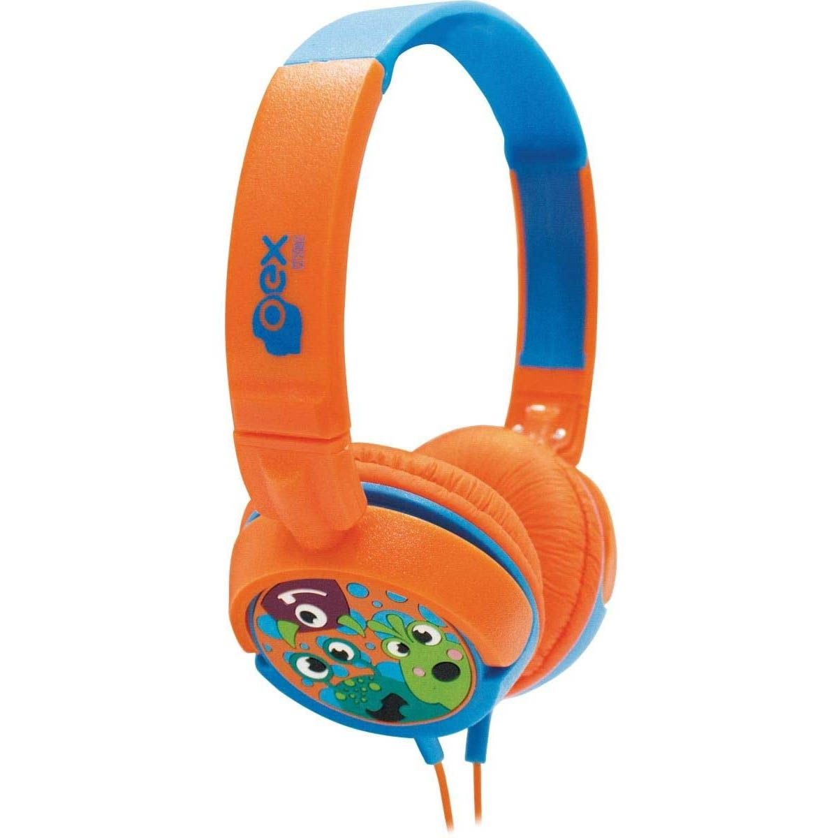 HeadPhone Infantil Oex Giratório KIDS Boo Laranja/Azul - HP301