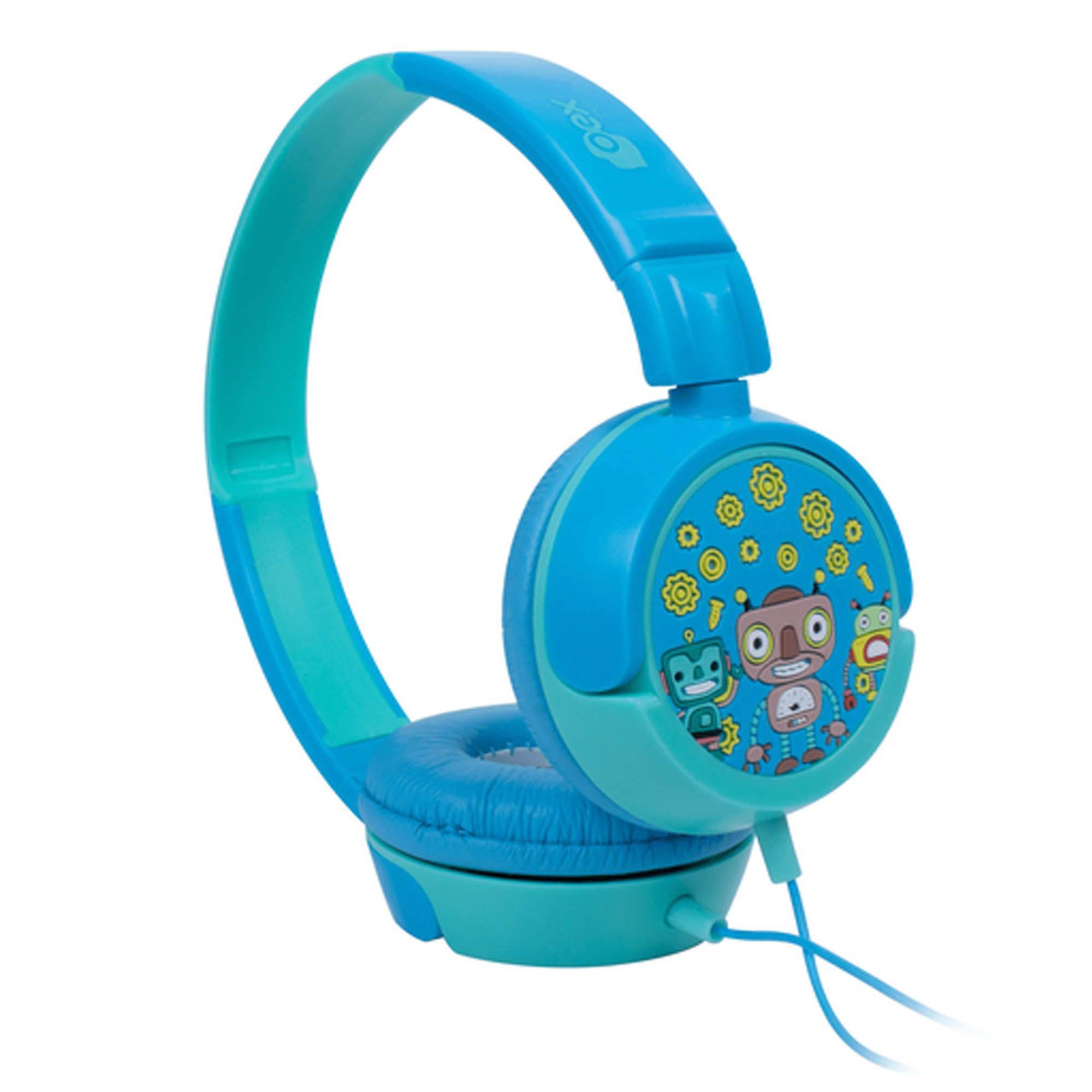 HeadPhone Infantil Oex Giratório KIDS Robos Azul - HP305