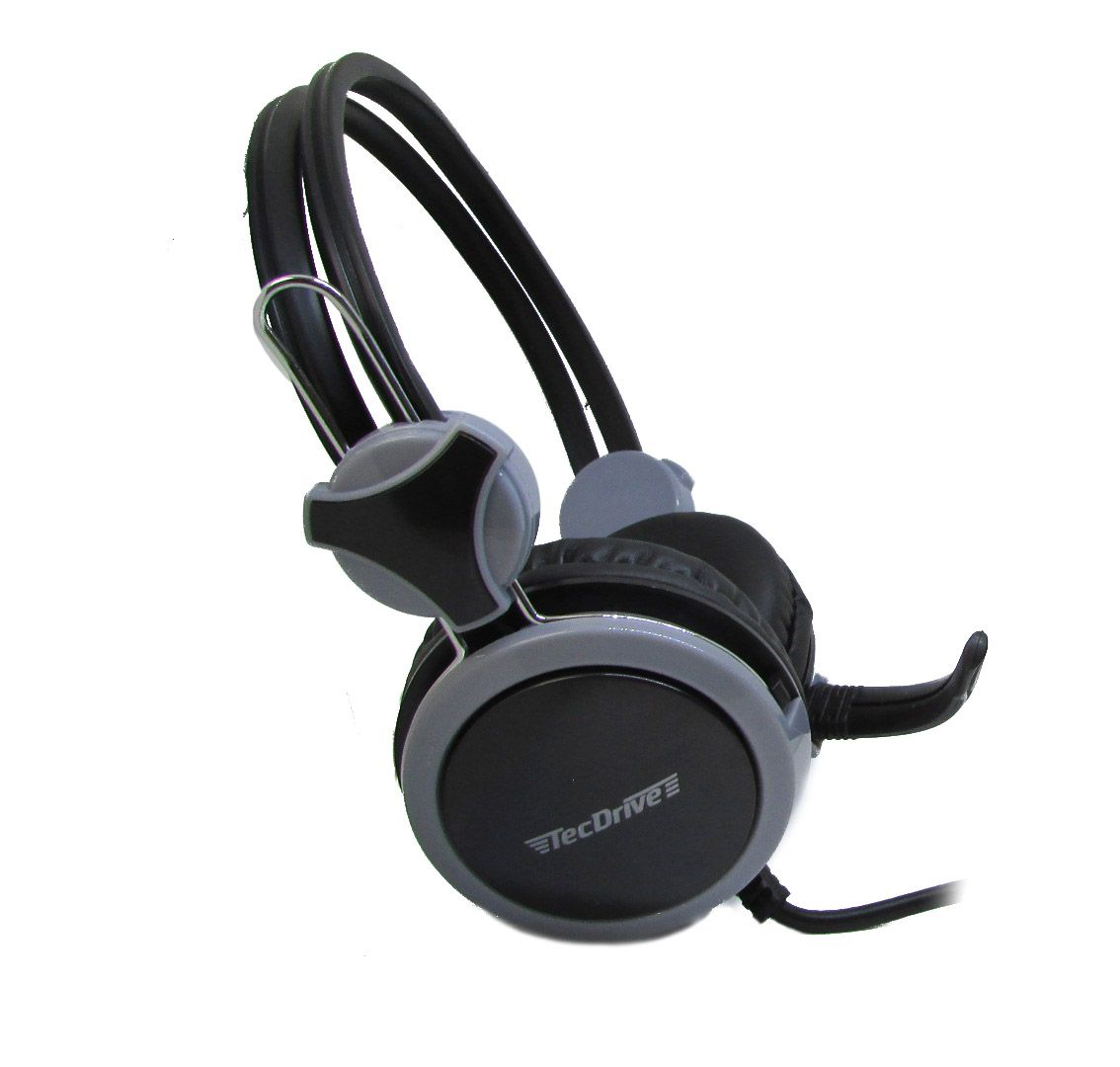 Headset Gamer P2 TecDrive Cinza / Preto  -  F-5