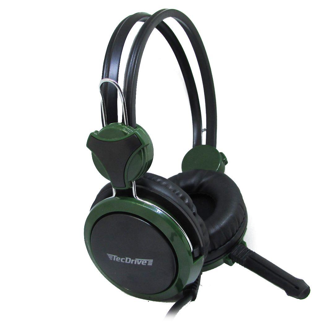 Headsdet Gamer P2 TecDrive Verde escuro / Preto  -  F5