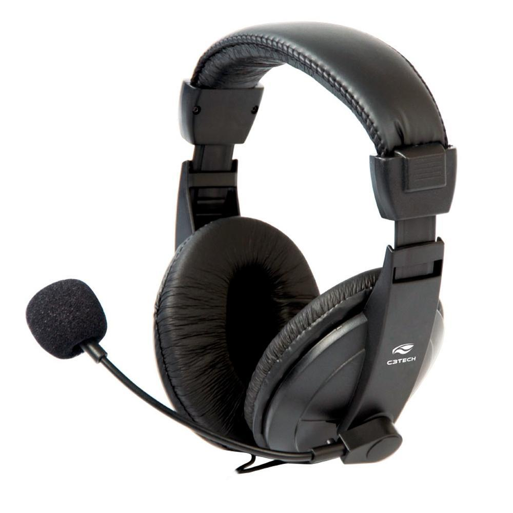Headset C3 Tech Voicer Confort Preto - MI-2260ARC