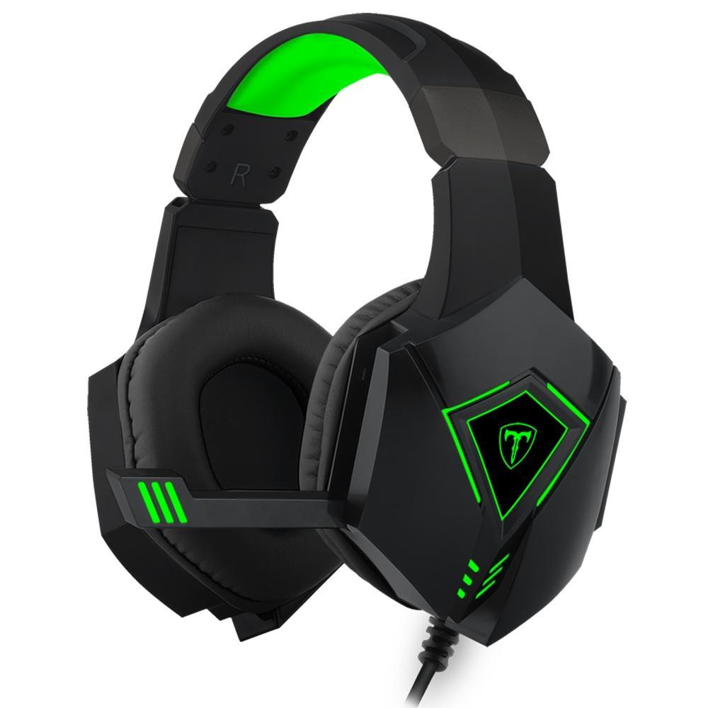 Headset Gamer T-Dagger Rocky Preto e Verde T-RGH206