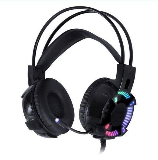Headset Gamer Vinik VX Gaming 7.1 LED RGB Com Microfone Preto - Enya