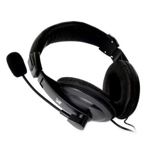Headset MaxPrint Profissional com Microfone P2 Preto - 6011444