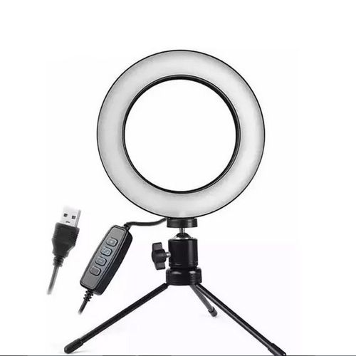 Iluminador de Led Com Tripe Ring Light Usb 16cm 3500k 5500k - AL-D002