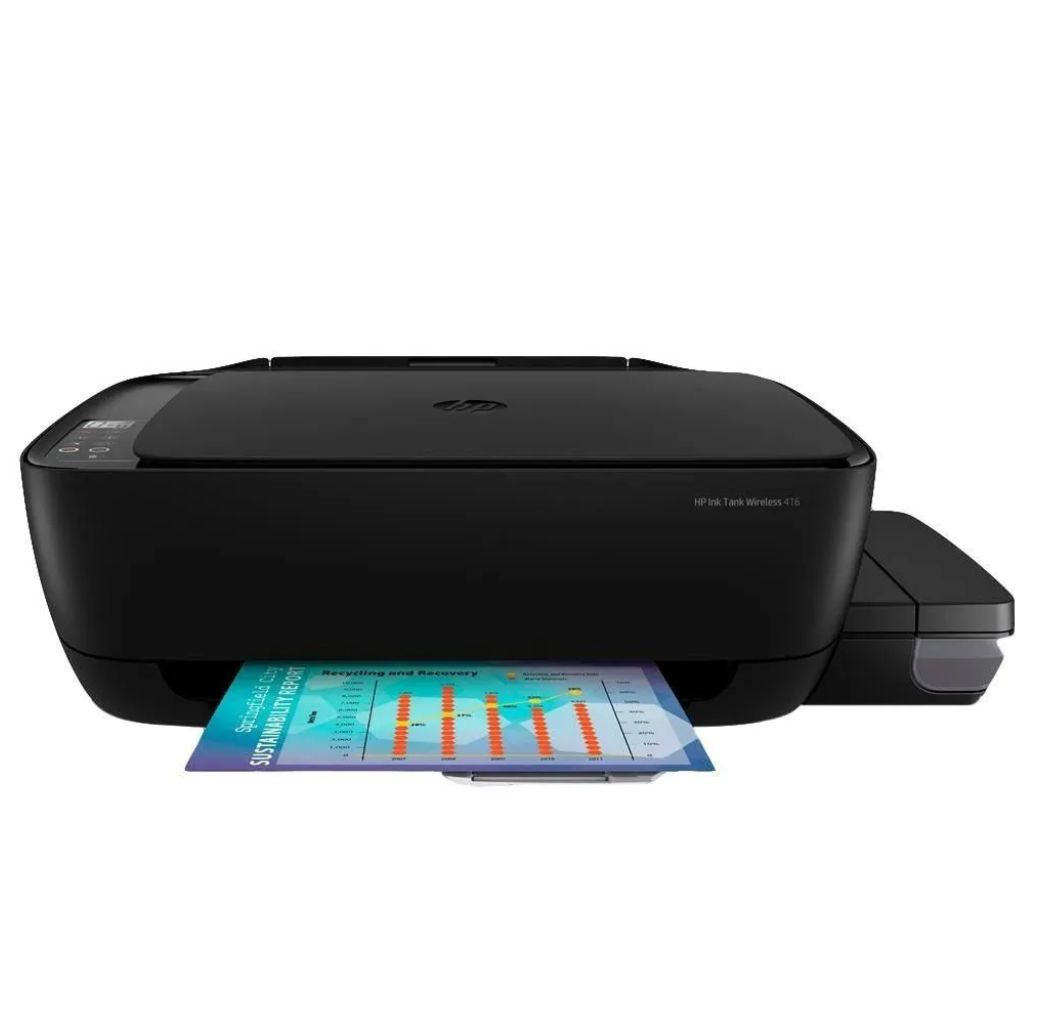 Impressora HP Multifuncional Ink Tank Preto - Wireless 416