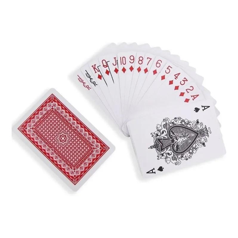 Jogo De Baralho Duplo 2 Maços 54 Cartas de Plástico - SQ-3389