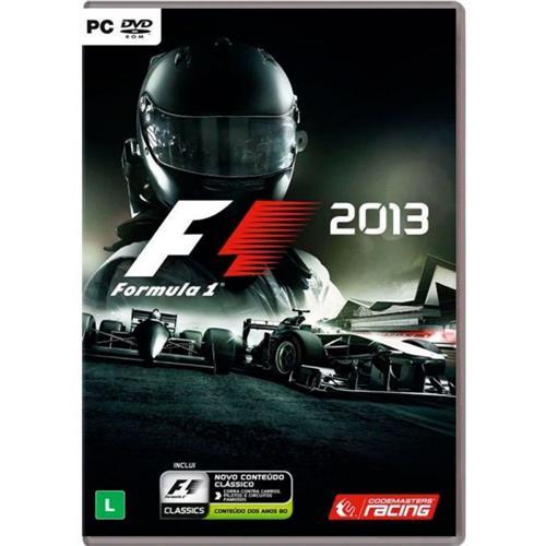 Jogo p/ PC Fórmula 1 2013 Edição Clássica DVD Mídia Física