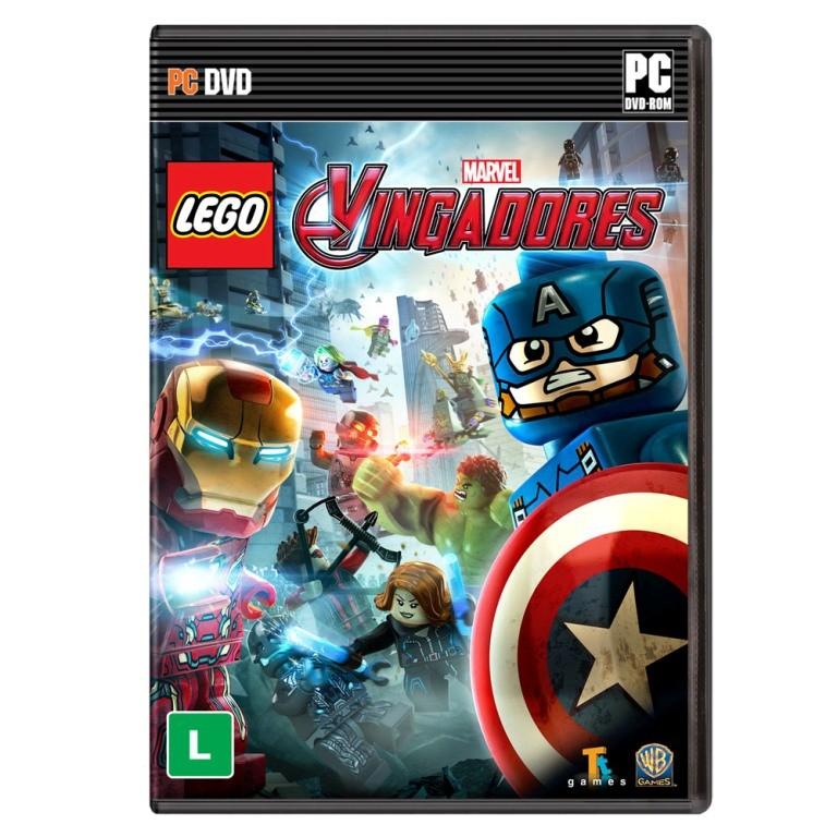 Jogo p/ PC Lego Marvel Vingadores DVD Mídia Física