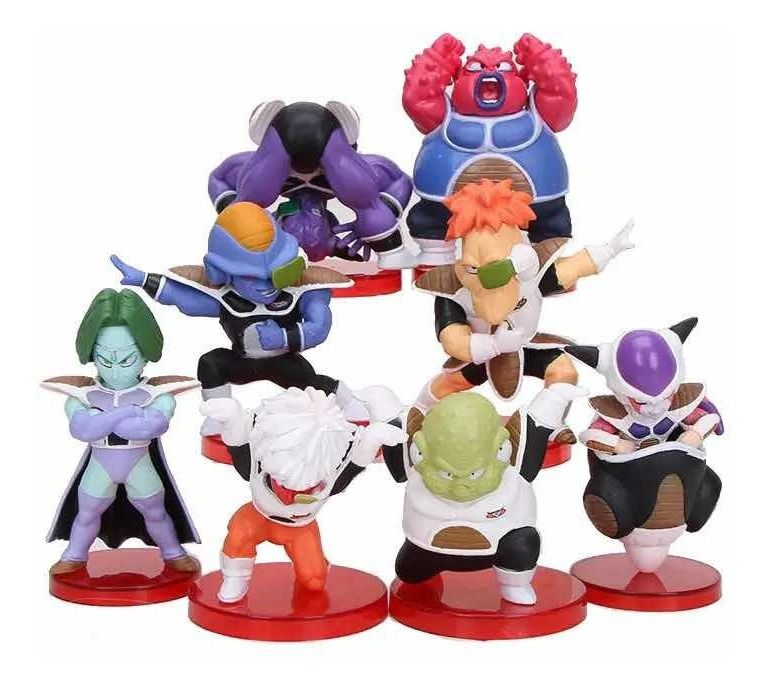 Kit Action Figure Dragon Ball Forças Especiais Ginyu 5 a 7 CM