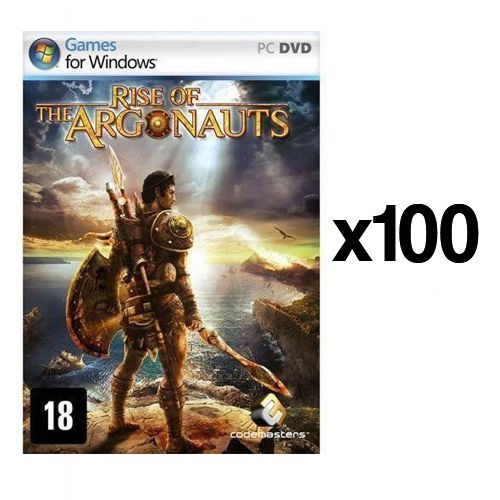 Kit C/ 100 Jogos p/ PC Rise of the Argonauts DVD Original Mídia Física