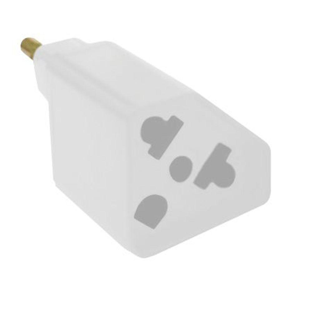 Kit C/ 10 Adaptadores de Tomada Novo Padrão / Padrão Antigo Branco