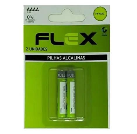 Kit c/ 10  Blister 2 Pilhas AAAA Alcalinas Flex 1.5v - FX-4AK2