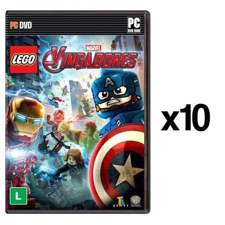 Kit C/ 10 Jogos p/ PC Lego Marvel Vingadores DVD Mídia Física