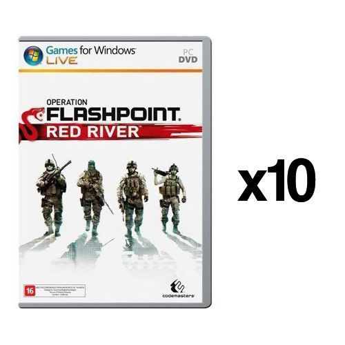Kit C/ 10 Jogos p/ PC Operation Flashpoint Red River DVD Mídia Física