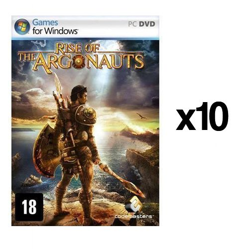 Kit C/ 10 Jogos p/ PC Rise of the Argonauts DVD Original Mídia Física