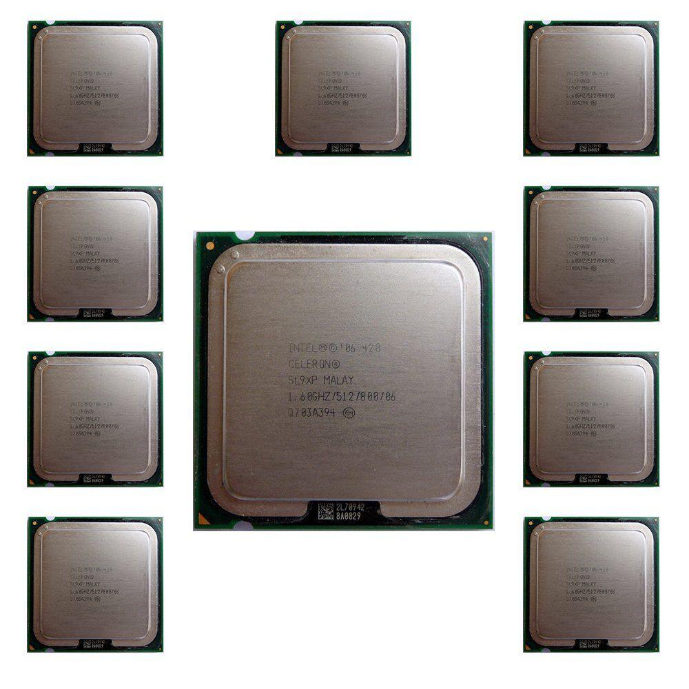 Kit C/ 10 Processadores Intel Celeron 420 1.60Ghz  775 SL9XP