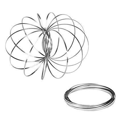 Kit c/ 10 Pulseiras Magic Ring Anti Stress Tendência Brinquedo Mágica
