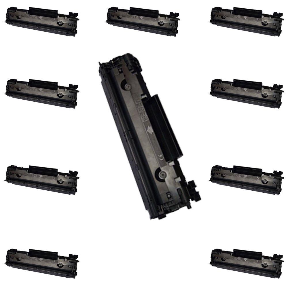 Kit C/ 10 Toners Universal P1102 M1132 35A 36A 85A CB435A 436A CE285A