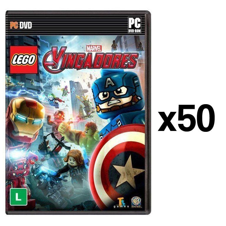 Kit C/ 50 Jogos p/ PC Lego Marvel Vingadores DVD Mídia Física