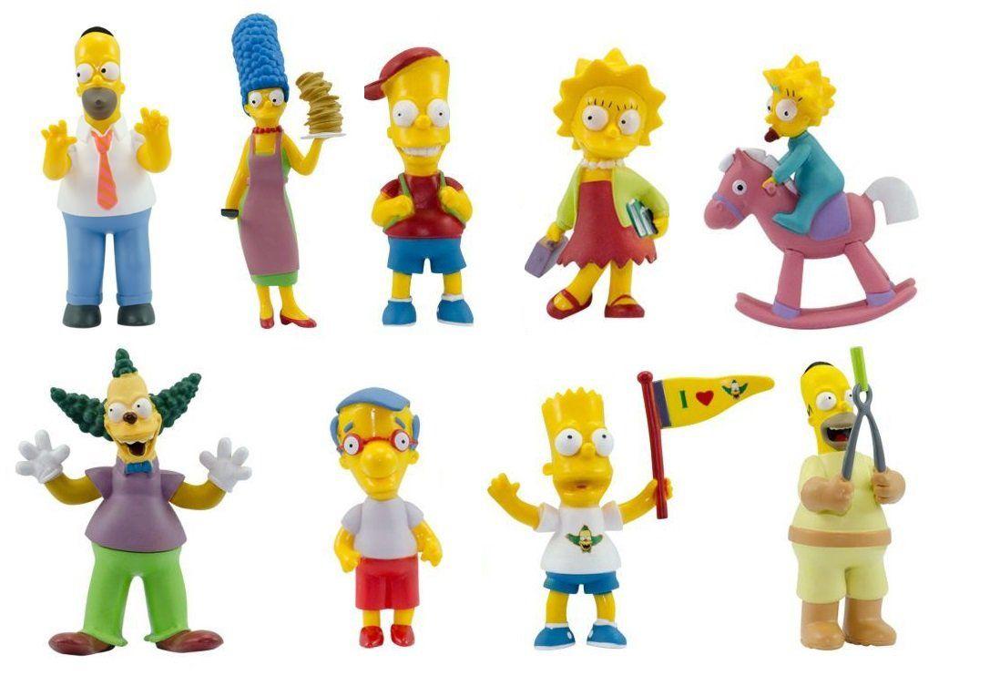 Kit c/ 9 Bonecos personagens Desenho Seriado Os Simpsons  Br499 Multikids
