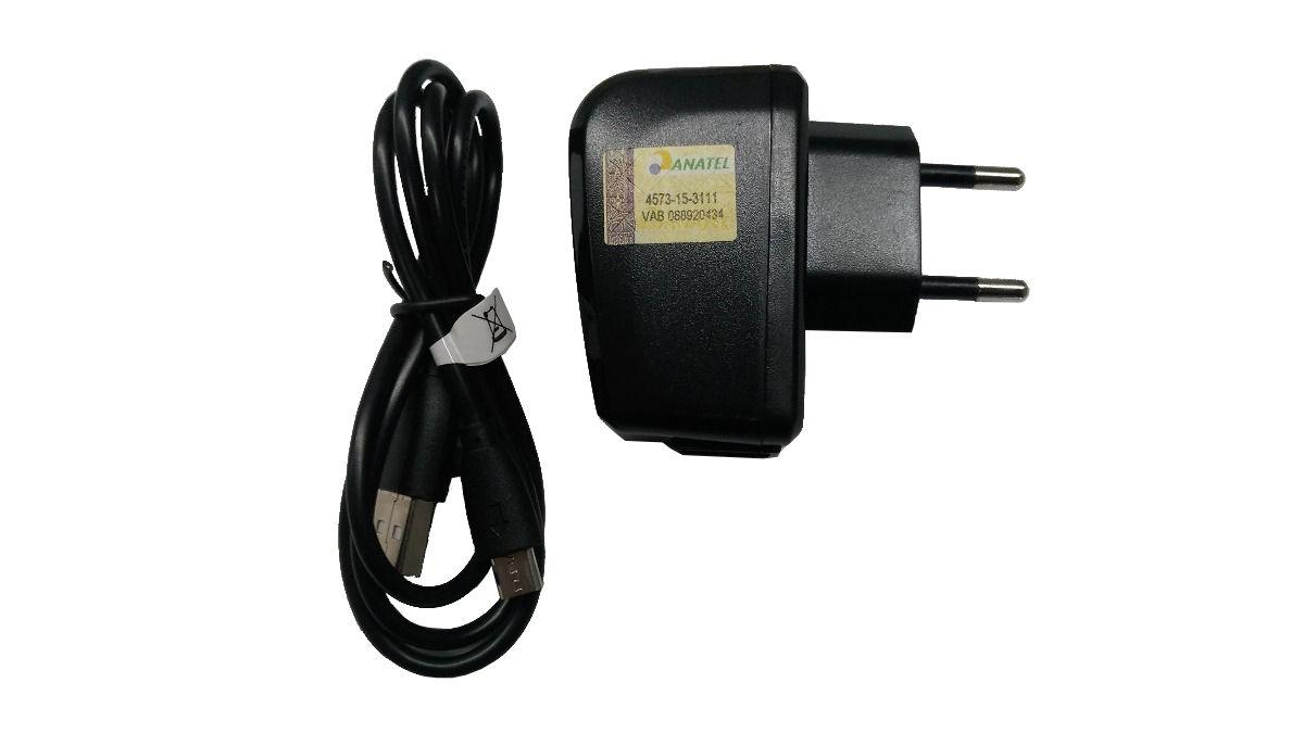 Kit Carregador Cabo + Fonte P/ Smartphone MS60 Micro USB V8 5v 1a Pr072
