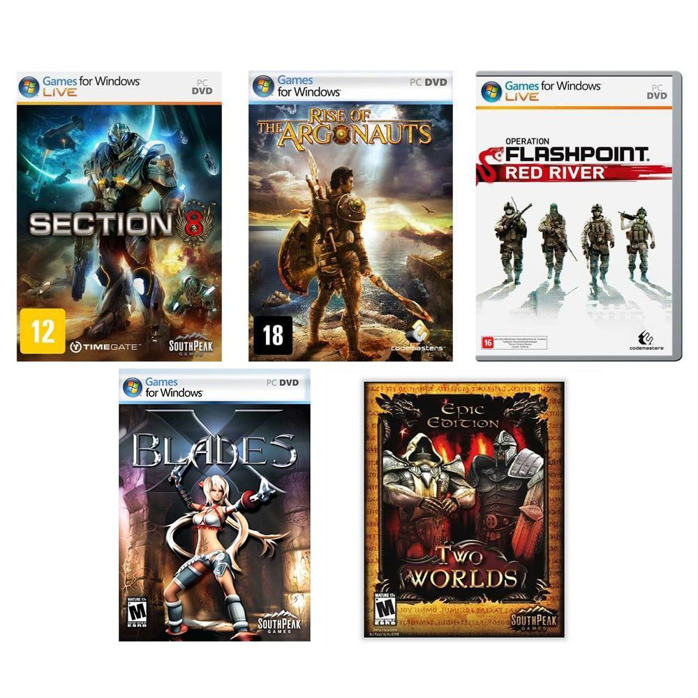 Kit combo c/ 5 jogos p/ PC Originais lacrados Mídia Física