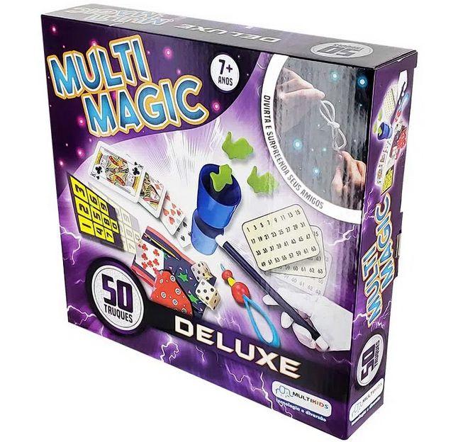 Kit de Mágica MultiMagic Deluxe com 50 Truques Colorido Multikids - BR659