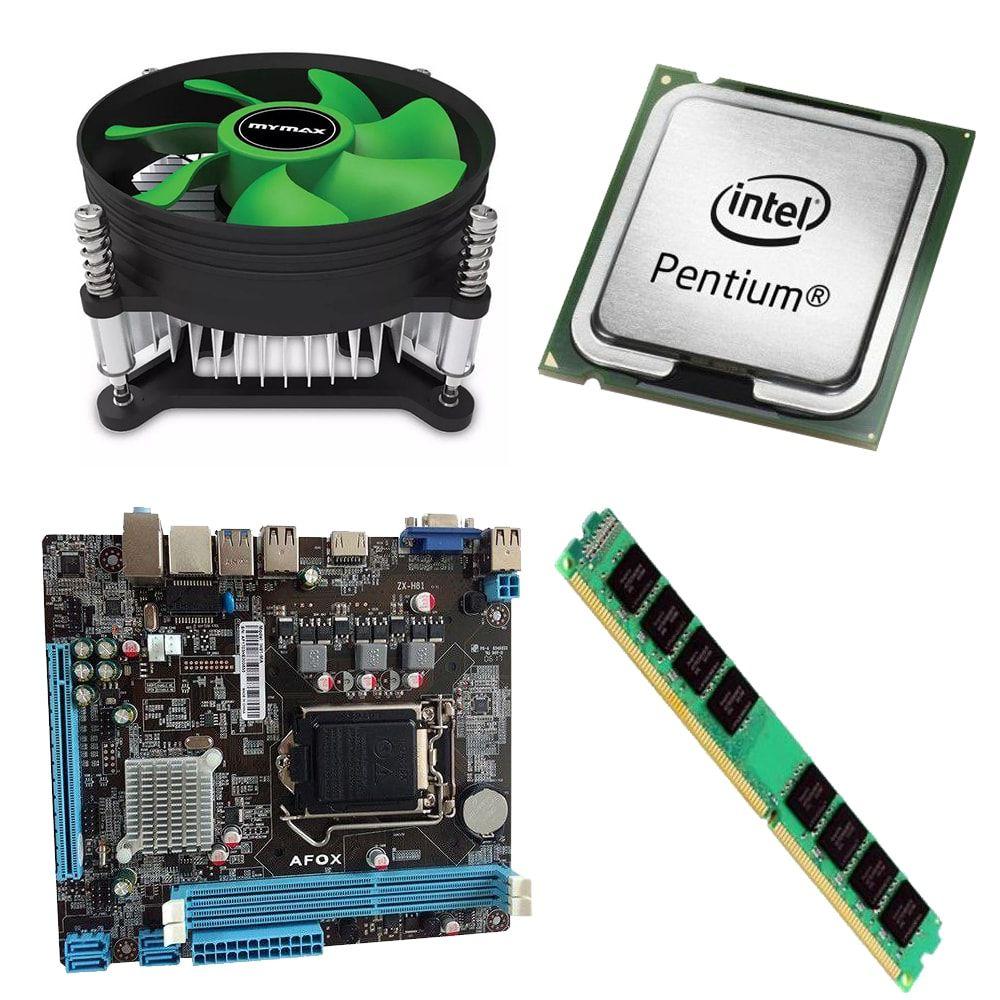 Kit Placa Mãe Afox Ih81-ma + Processador Intel Pentium G3260 3.3GHz + 4GB Ram DDR3
