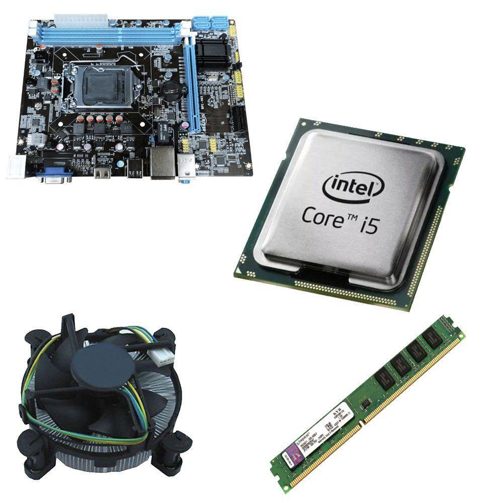 Kit Placa Mãe BRPC 1155 + Processador Intel Core i5 2400 3.1GHz + 4GB Ram Kingston