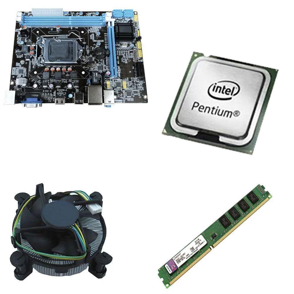 Kit Placa Mãe BRPC 1155 + Processador Intel Pentium Dual Core G2030 3.0Ghz + 4GB Ram Kingston