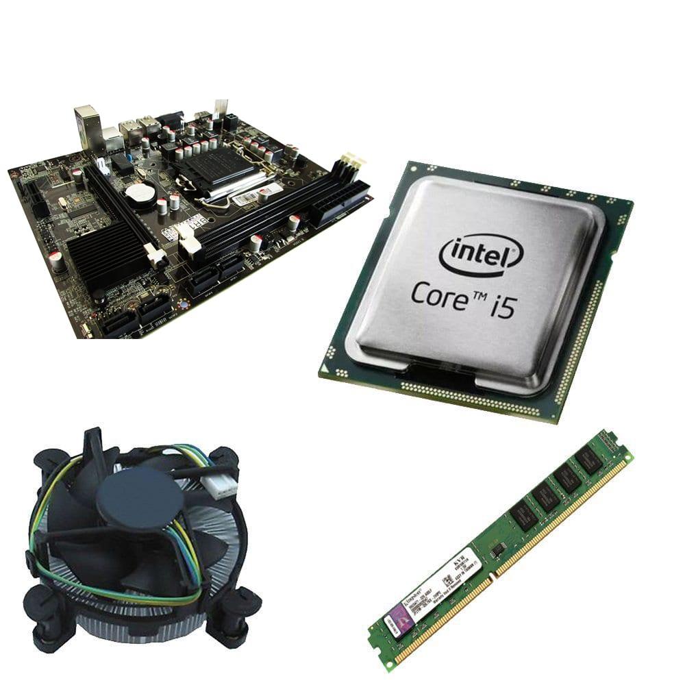 Kit Placa Mãe IH55 1156 + Processador Intel Core i5-650 3.2GHz + 4GB Ram Kingston