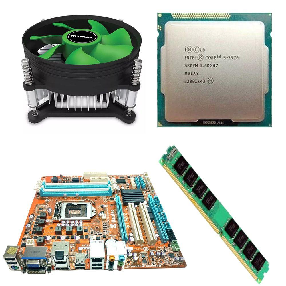 Kit Placa Mãe Q67 + Processador Intel Core I5 3570 3.40GHz + 4GB Ram DDR3