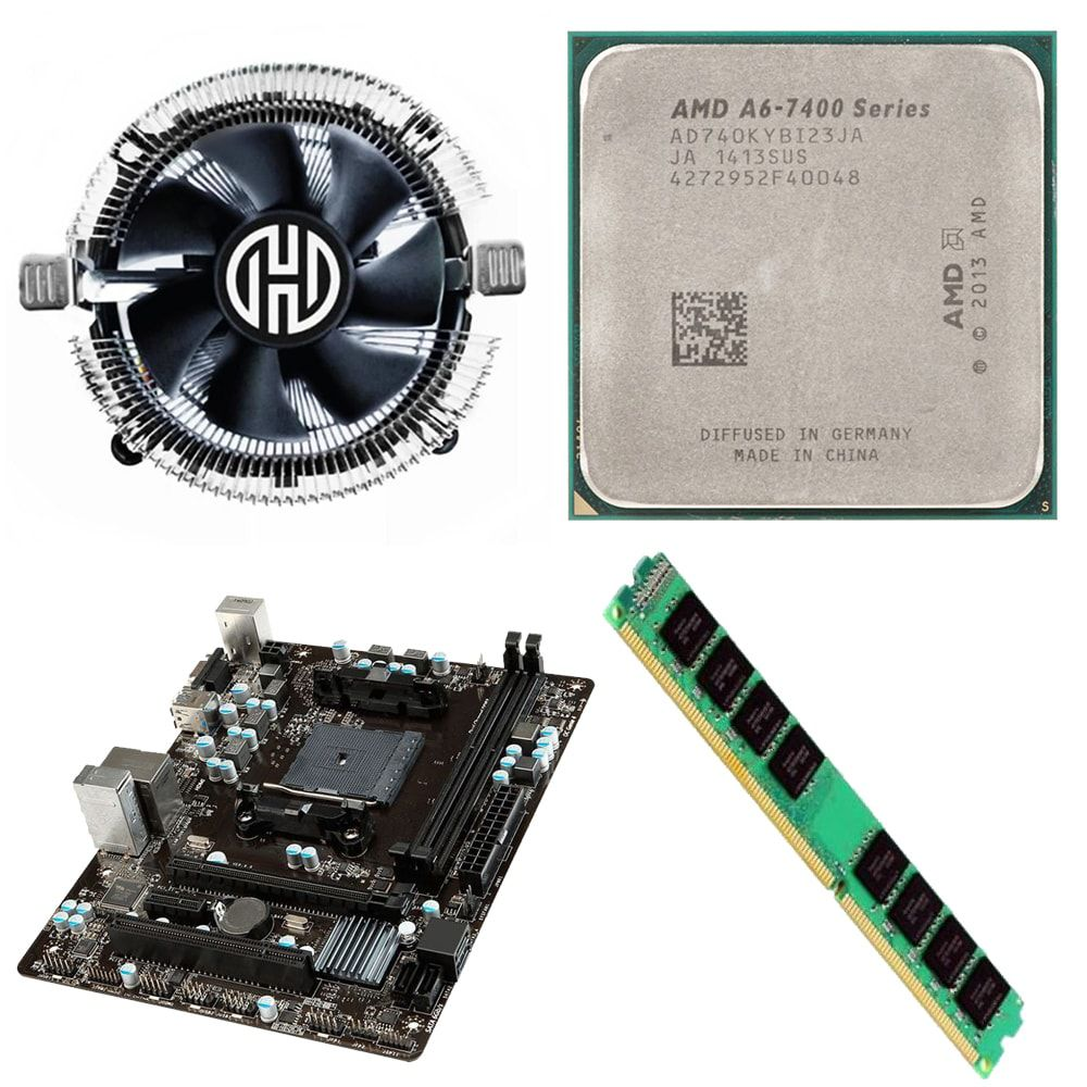Kit Placa Mãe MSI A68HM-E33 + Processador AMD A6 7400K 3.5 Ghz + 4GB Ram DDR3