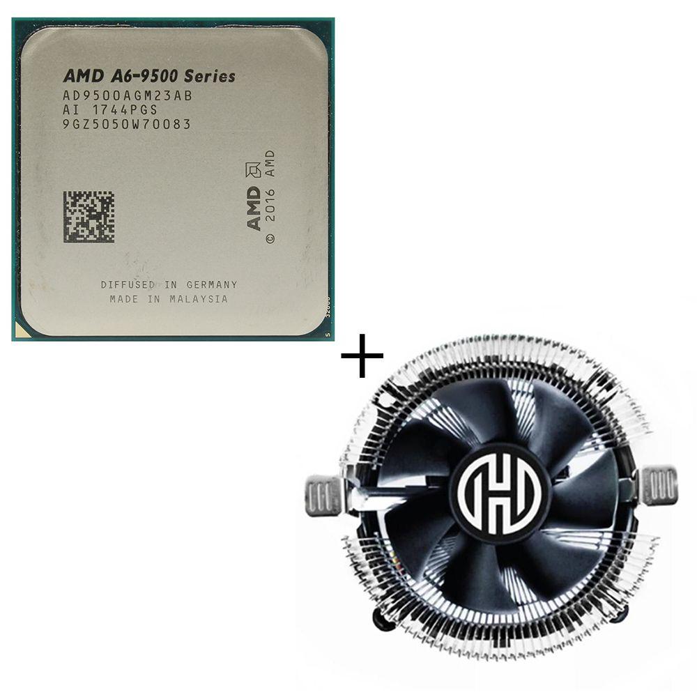 Processador AMD A6 9500 1MB 3.5GHz AM4 Oem + Cooler compatível