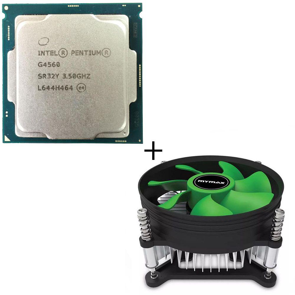 Processador Intel Pentium G4560 3MB 3.5GHz 1151 Oem + Cooler Compatível