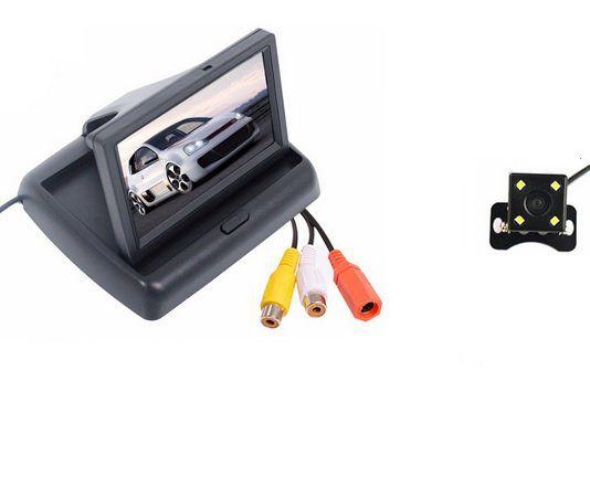 "Kit Sistema de Estacionamento 4.3 ""TFT LCD Monitor Dobrável + câmera À Prova D' Água"