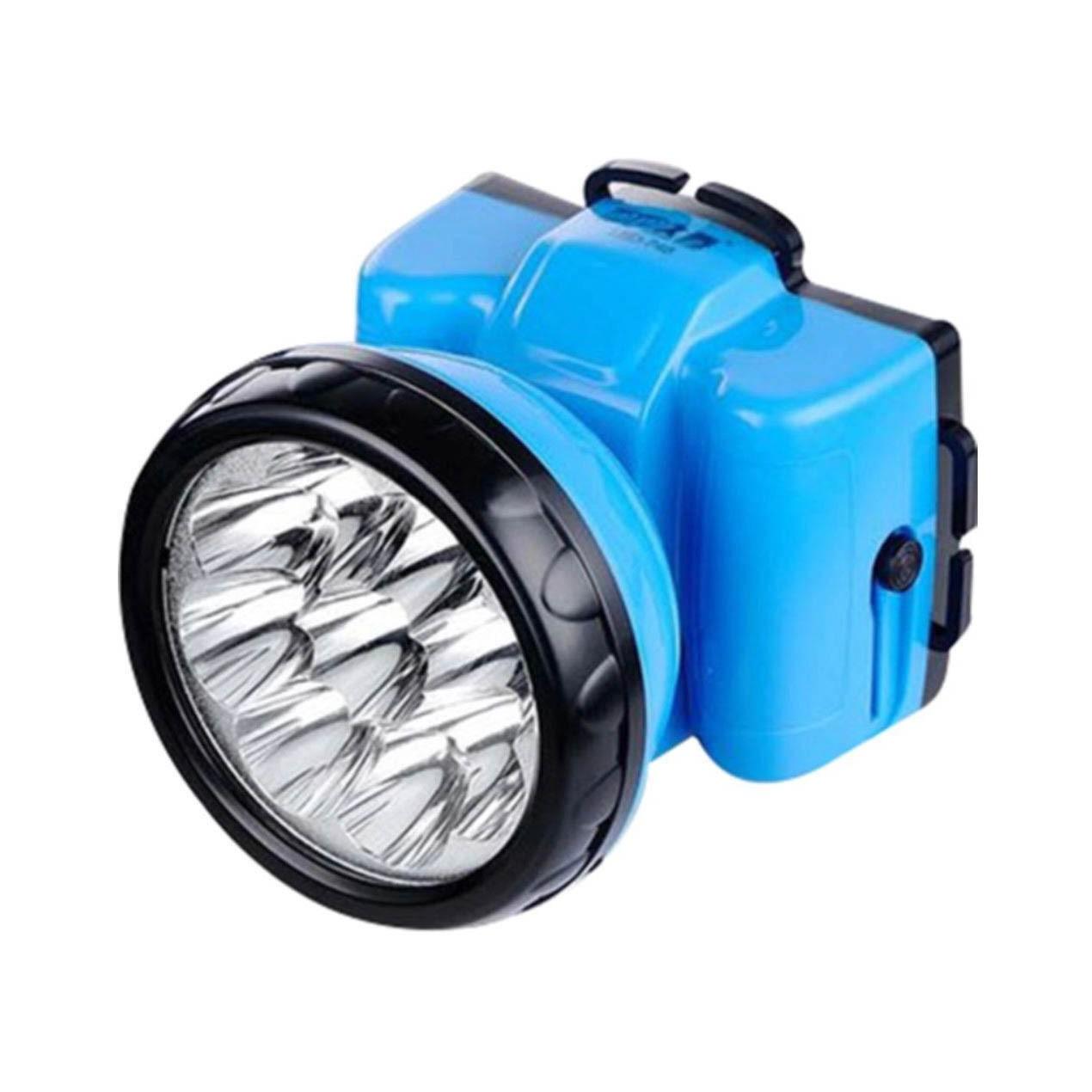 Lanterna De Cabeça Recarregavél DP.LED LIGHT 400mAh 9 Leds Azul - Led-748