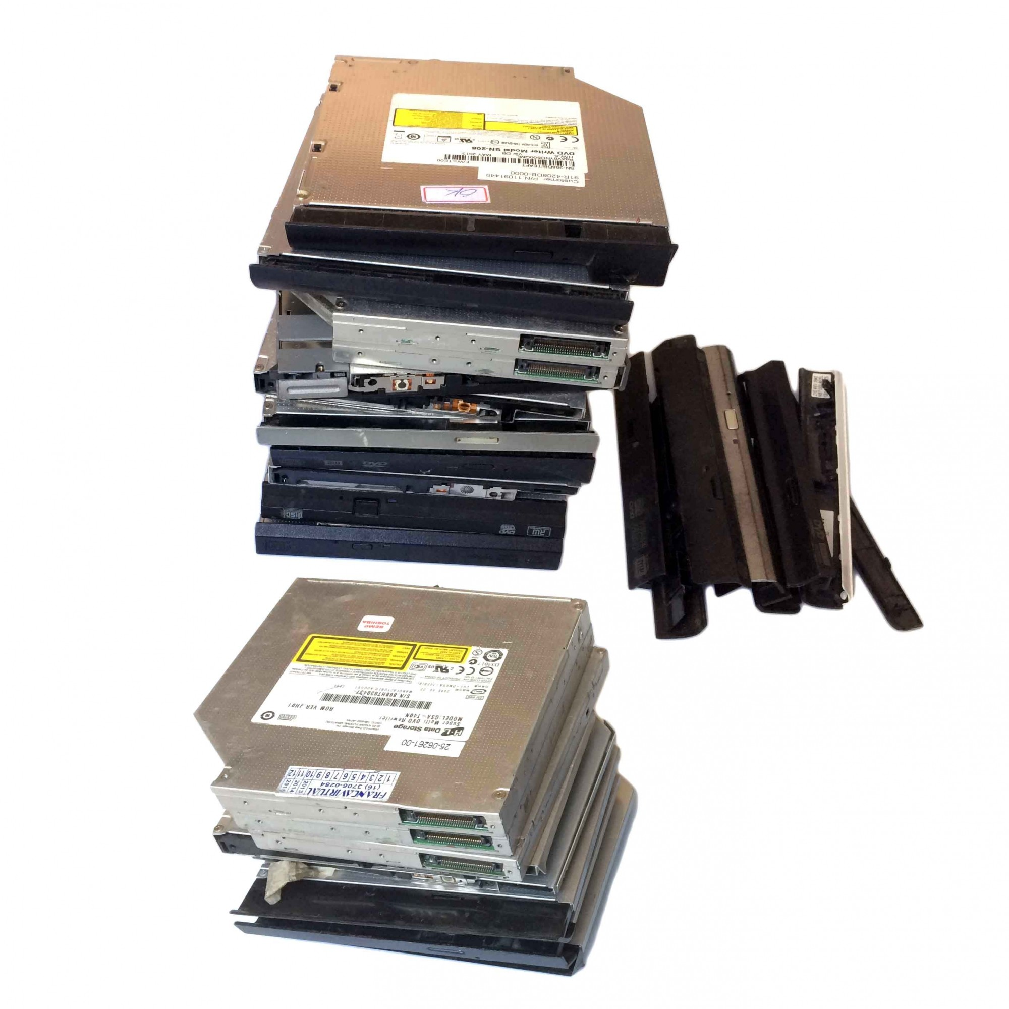 Lote C/ 19  Gravadores DVD P/ Notebook Diversos modelos e marcas - Retirado