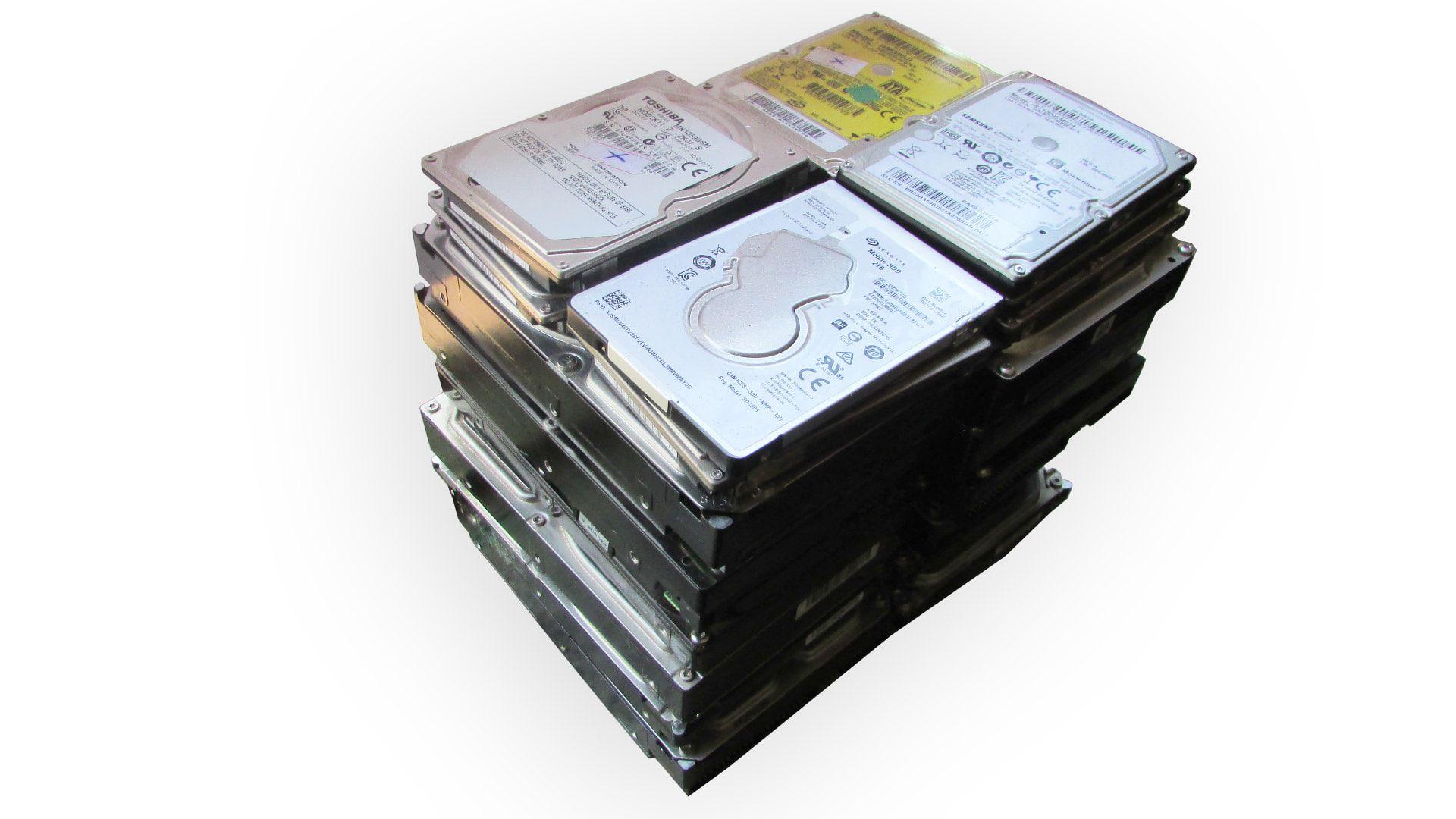 Lote c/ 21 HDs Desktop e Notebook com defeito