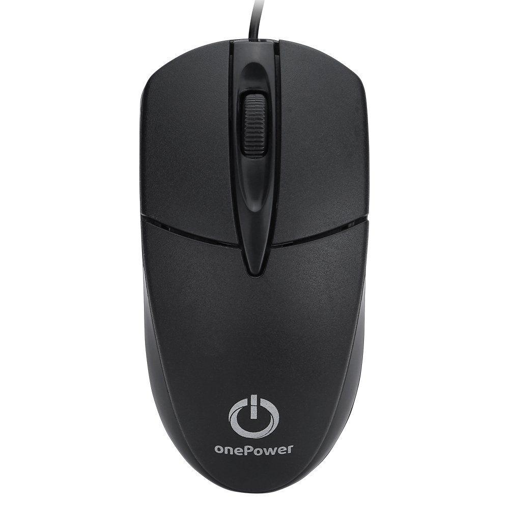 Mouse USB 1000DPi onePower Preto - MO-048