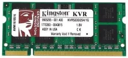 Memória 1 Gb Ddr2 533 Kingston Kvr533d2s4/1g Notebook