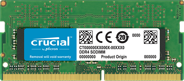 Memória DDR4 4GB 2400MHZ p/ notebook Crucial CT4G4SFS824A
