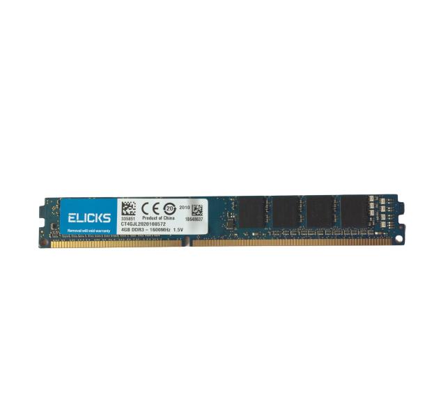 Memória ELICKS 4GB 1600MHz DDR3 1.5v Desktop - CT4GJL2020108572