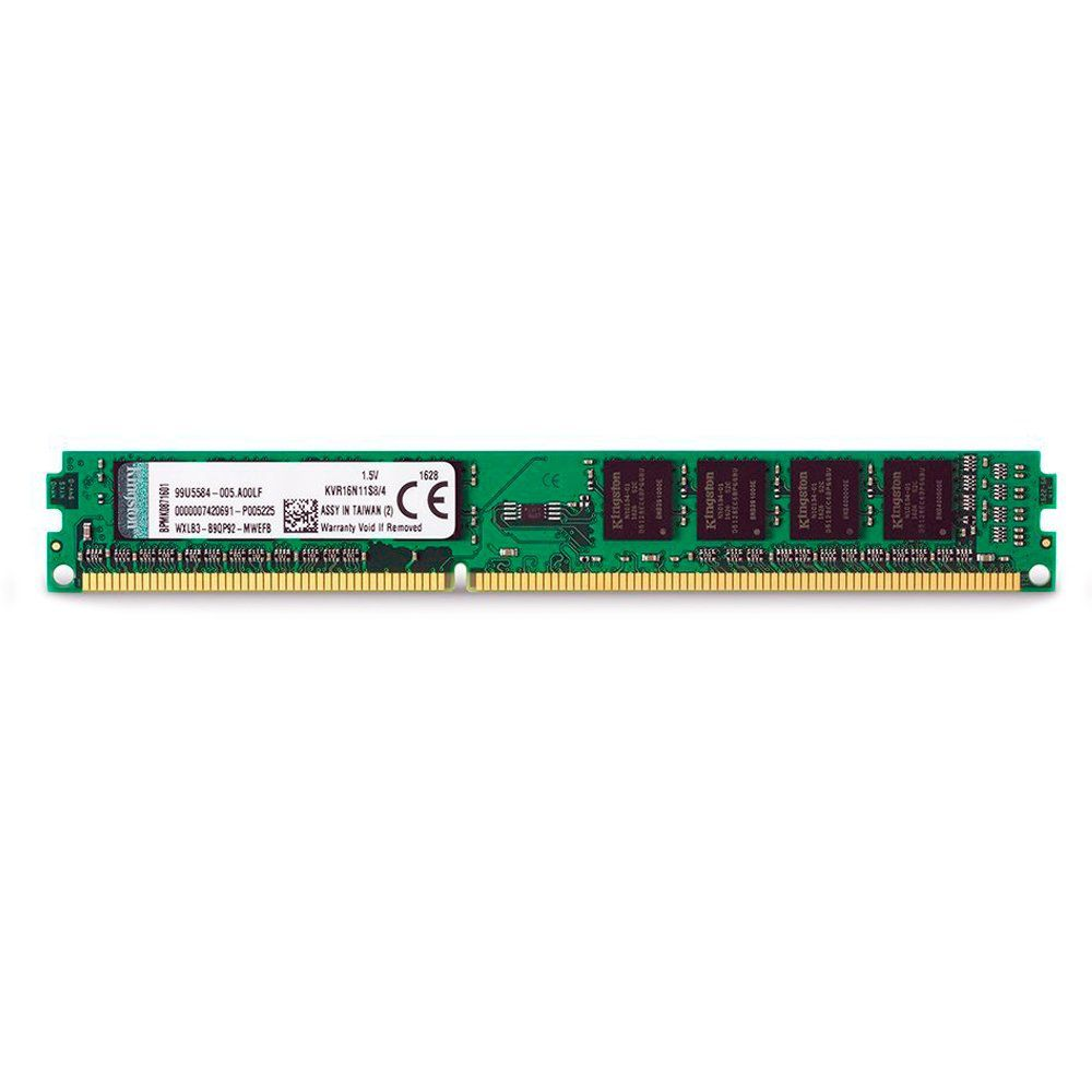 Memória Kingston 4GB 1600Mhz DDR3 CL11 - KVR16N11/4