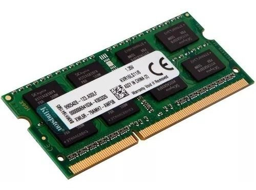 Mémoria Kingston 8gb 1600mhz Ddr3l Notebook Kvr16ls11/8gb