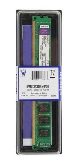 Memória Kingston Ddr3 4gb 1333 Mhz KVR1333D3N9/4G