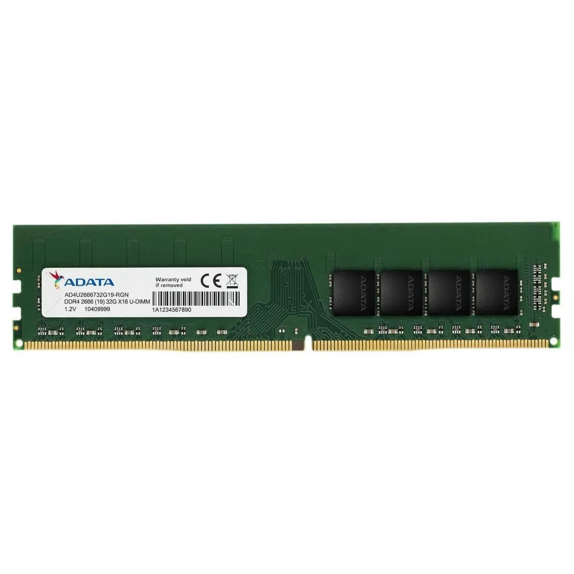 Memoria P/ Desktop 16gb Ddr4 2666mhz Dimm Adata Ad4u2666716g19-b