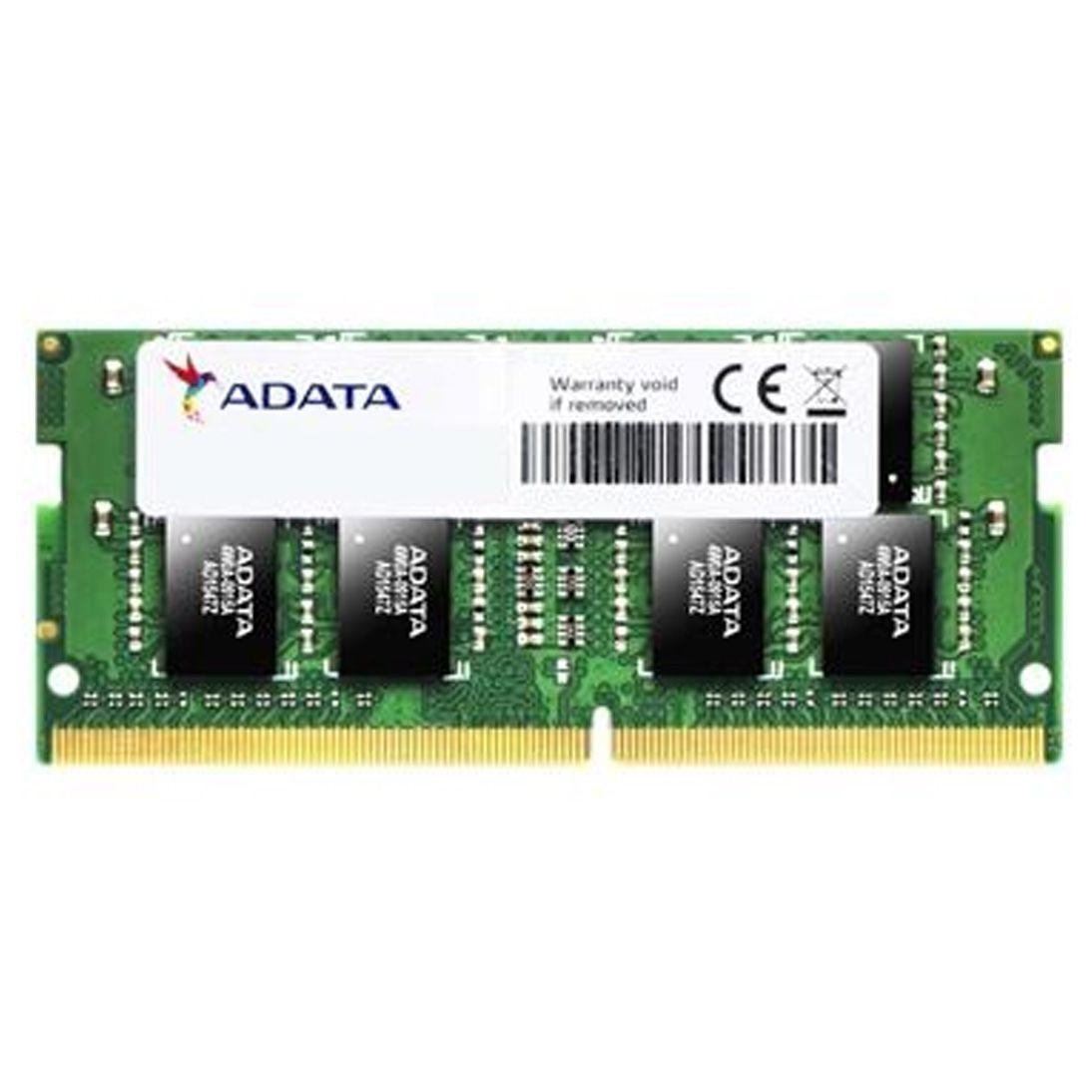 Memória RAM Adata P/ Notebook 16GB 2666MHz DDR4 SO-DIMM  Verde - AD4S2666716G19 - SNG