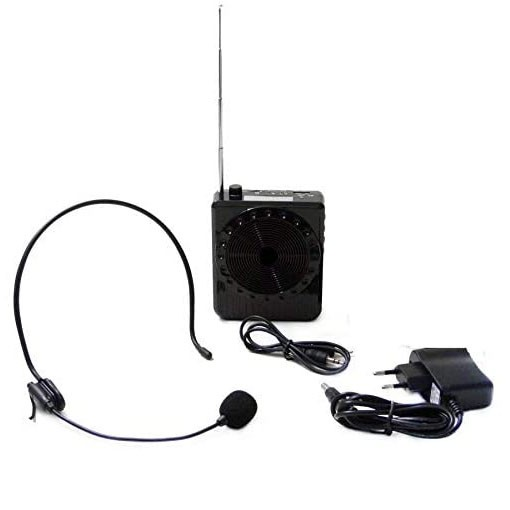 Microfone C/ Caixa Amplificadora Megafone Radio Fm Usb - K150